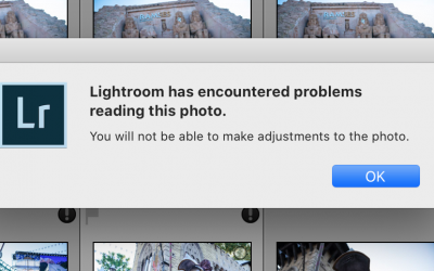 Lightroom problems reading own DNG format