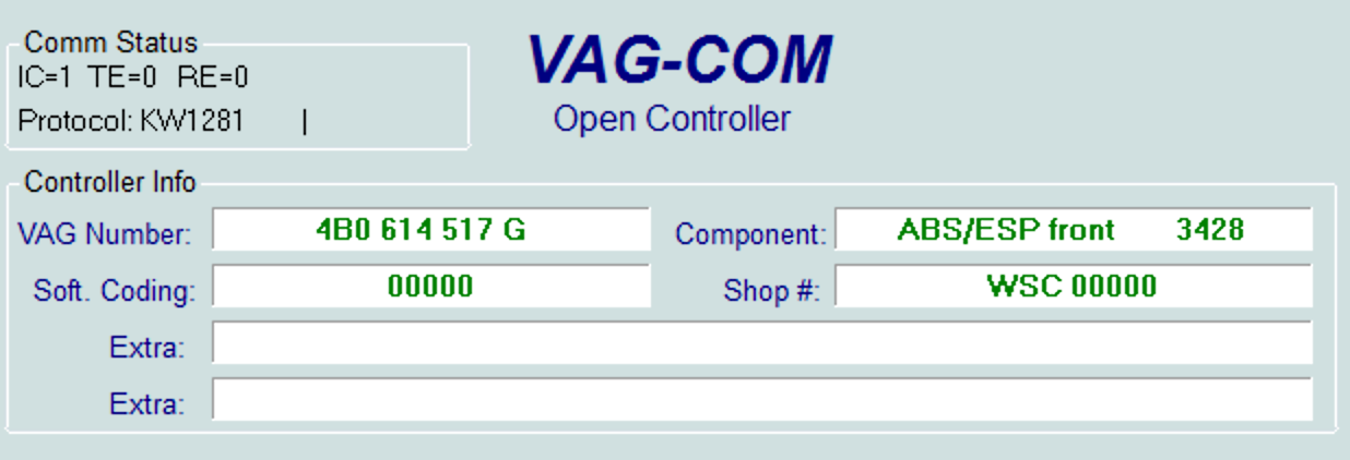 coding of the ABS pump in VAG
