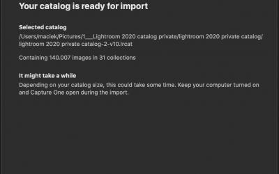 Capture one – import af stort Lightroom katalog (140.000 billeder)