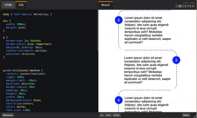 Flot CSS styling af listeelementer