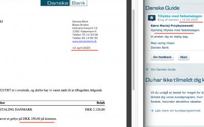Danske Bank birthday prezent